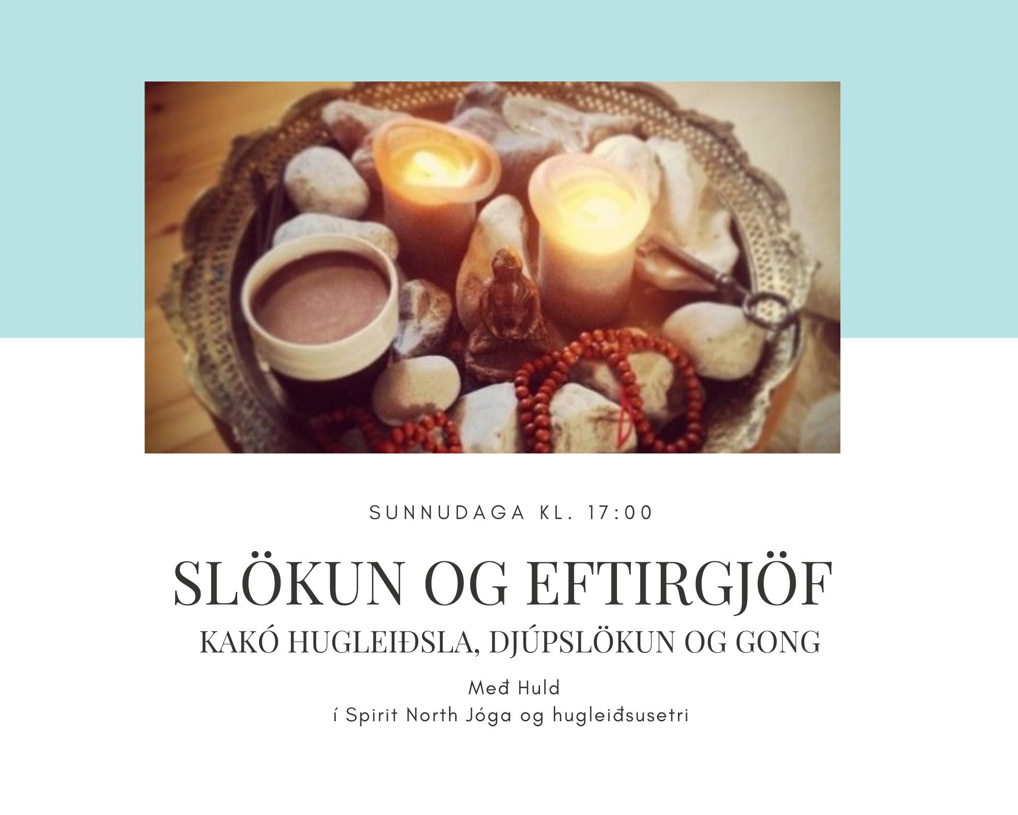 Kakó hugleiðsla, djúpslökun og gong – 30. 5. 2021