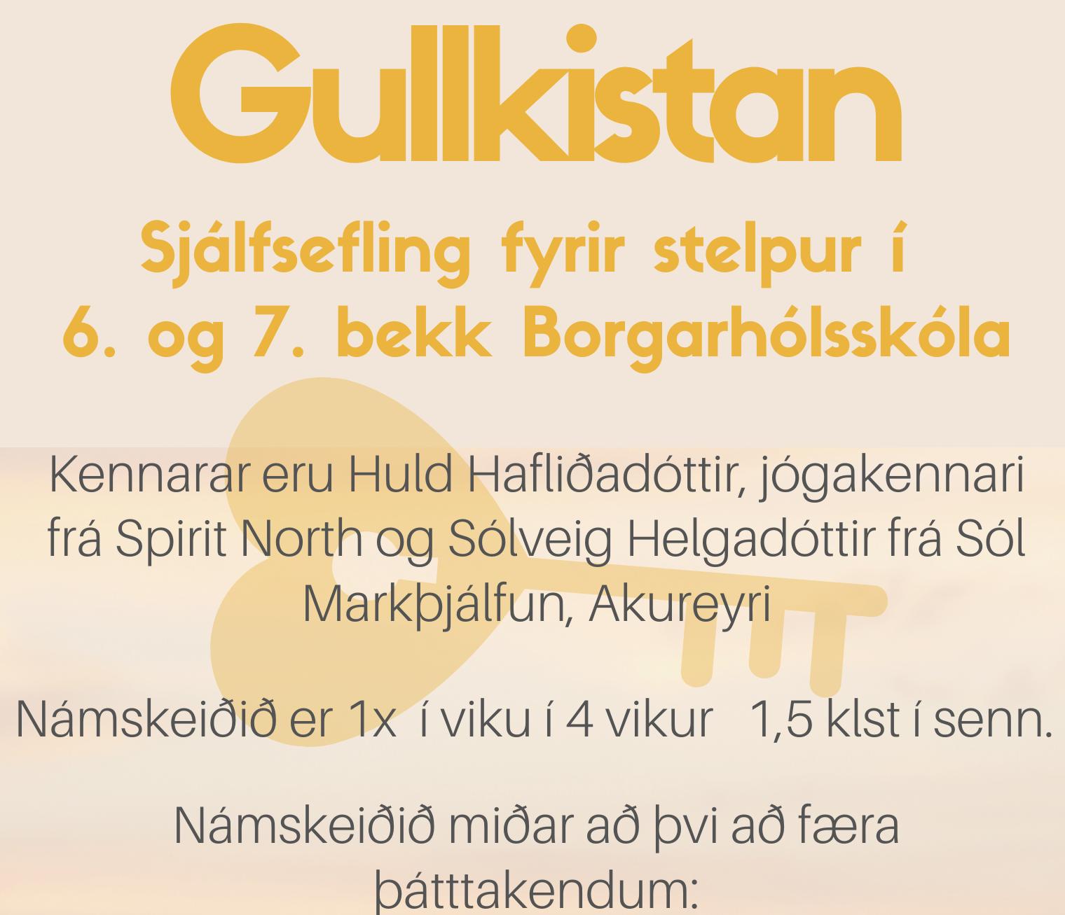 Gullkistan – sjálfsefling fyrir stelpur