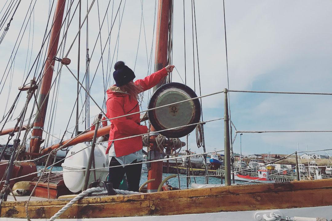 Gong sigling á Skjálfanda